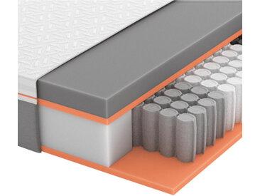 Schlaraffia Partnermatratze Gelschaum Höhe ca. 26 cm , Weiß, Grau, H2+H2=mittel bis ca.80kg, 180 cm