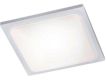 XXXLutz AUßENDECKENLEUCHTE, Weiß, Metall, 25x25 cm