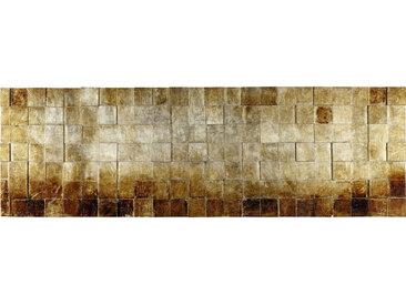 Monee OBJEKTBILD Strukturen , Braun, Gold, Holz, Tanne, 56x180 cm