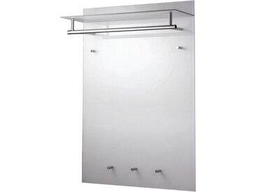 XXXLutz WANDGARDEROBE Weiß, Silber , Metall, Glas, 70x100x24 cm