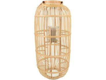 Windlicht, Bambus, Natur, H 97