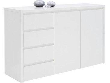 Voleo KOMMODE Weiß , 3 Fächer, 146x92.2x45 cm