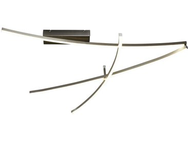 Novel LED-DECKENLEUCHTE , Nickel, Metall, Kunststoff, 80x10 cm