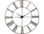 Kare-Design WANDUHR , Anthrazit, Bronze , Metall , 120.5x120.5x4 cm , Dekoration, Uhren, Wanduhren