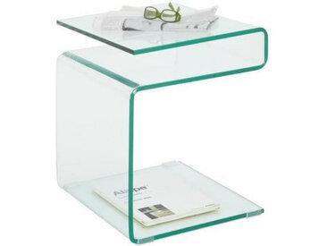 Xora BEISTELLTISCH quadratisch Weiß , Glas, 40x48x40 cm