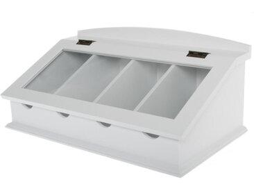 Box, Paulownia, Weiß, B/H/T 46 21 27