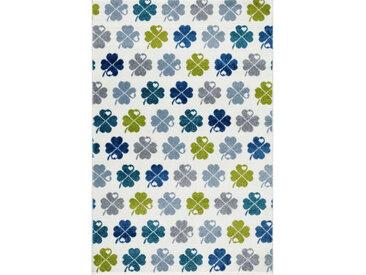 XXXLutz KINDERTEPPICH 120/180 cm Mehrfarbig, Weiß , Mehrfarbig, Weiß, Blätter, 120 cm