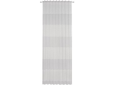 Esposa FERTIGVORHANG blickdicht 140/245 cm , Silber, Streifen, 140 cm
