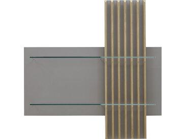 Ambiente WANDPANEEL Eiche furniert Grau, Braun , Holz, 105x106x25 cm