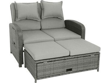Ambia Garden LOUNGESOFA , Grau, Metall, Kunststoff, 2-Sitzer, 117x88x74 cm