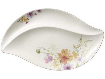 Villeroy & Boch SERVIERPLATTE, Mehrfarbig, Weiß, Keramik, Blume, 50 cm