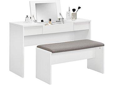Carryhome SCHMINKTISCH Weiß , 125x82x42 cm