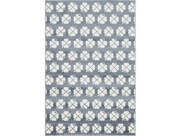 XXXLutz KINDERTEPPICH 120/180 cm Weiß , Silber, Weiß, Blätter, 120 cm