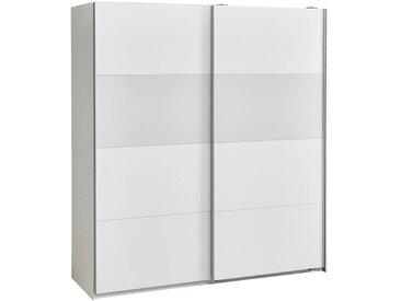 Carryhome SCHWEBETÜRENSCHRANK 2-türig Weiß , 179x198x64 cm