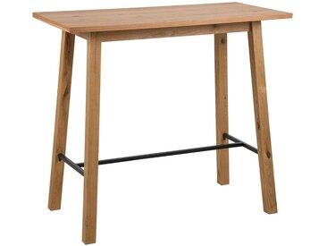 Carryhome: Tisch, Wildeiche, Schwarz, Eiche, B/H/T 58 105 117