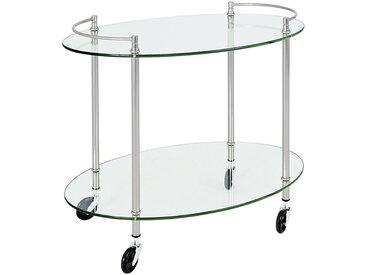 XXXLutz SERVIERWAGEN Silber , Metall, Glas, 68x63x46 cm