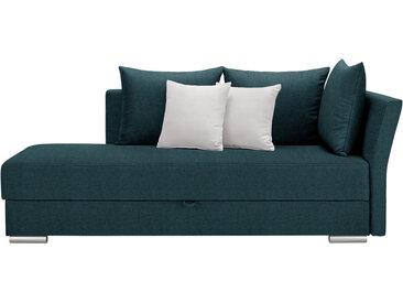 Livetastic LIEGE Webstoff Türkis , Uni, 4-Sitzer, 220x93x100 cm