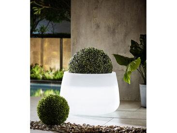 XXXLutz LED-Blumentopf Weiß , 59x39 cm