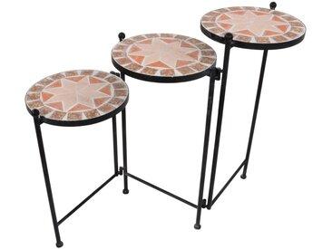Tisch, Schwarz, Terra cotta, H 60,5