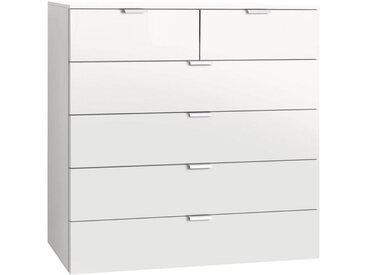 Carryhome KOMMODE Weiß , Metall, 100x100x42 cm