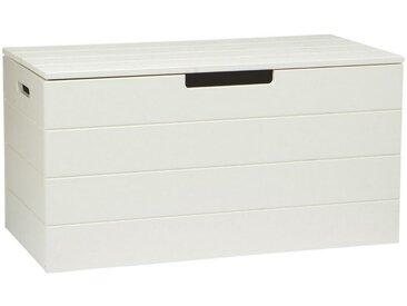 Livetastic TRUHE Holz Kiefer massiv , Weiß, 80x42x42 cm