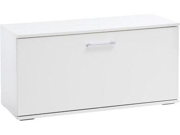 XXXLutz GARDEROBENBANK Weiß , Metall, 1-Sitzer, 90x47x38 cm