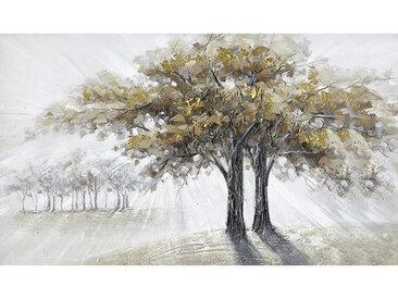Monee ÖLGEMÄLDE Bäume , Mehrfarbig, Holz, Kunststoff, Kiefer, vollmassiv, 120x70 cm