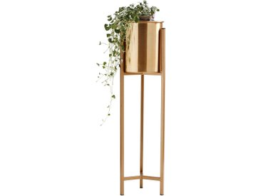 Ambia Home BLUMENTOPF , Gold, Metall, 75 cm