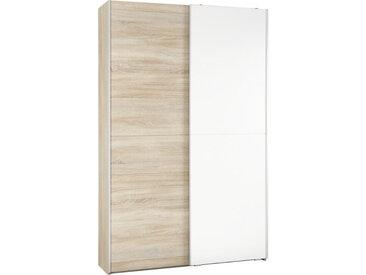 Livetastic MEHRZWECKSCHRANK Weiß, Beige , 6 Fächer, 125x195x38 cm