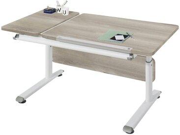 Paidi JUGENDSCHREIBTISCH Weiß, Braun , Metall, Kunststoff, 130x53 - 79x70 cm