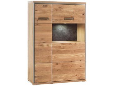 Cantus: Highboard, Holz, Glas,Eiche, Eiche, B/H/T 94 136 39