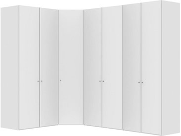 Jutzler ECKSCHRANK Weiß , 4 Fächer, 195.7x236x296.3 cm