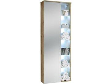 Livetastic HOCHSCHRANK , Glas, Nachbildung, 10 Fächer, 55x160x30 cm