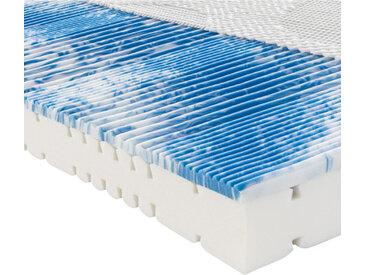 Novel Partnermatratze Komfortschaum Höhe ca. 22 cm , Weiß, H2+H2=mittel bis ca.80kg, 200x200 cm