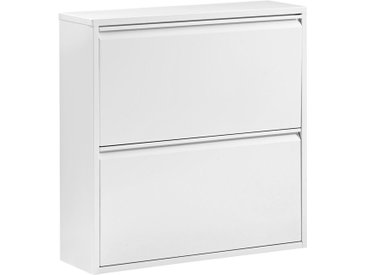 Carryhome SCHUHKIPPER Weiß , Metall, 76x77x23 cm