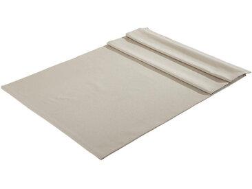 Bio:Vio: TISCHDECKE Textil Webstoff Silberfarben 130/160 cm