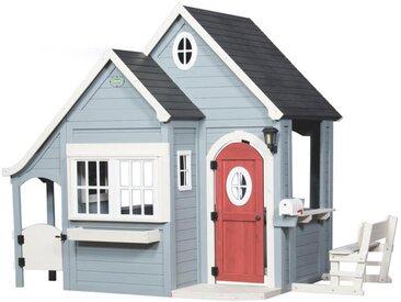 XXXLutz Spielhaus Spring Cottage , Weiß, Blau, Holz, Zeder, 170.2x221x279.4 cm