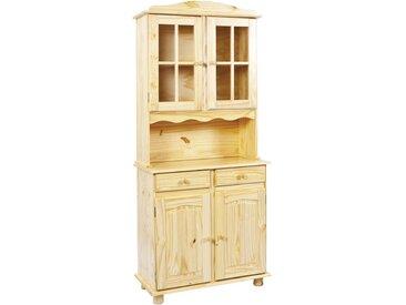 MID.YOU BUFFET Kiefer massiv Mehrfarbig , Holz, 3 Fächer, 88x198x43 cm
