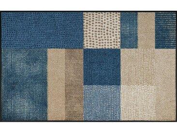 Esposa FUßMATTE 75/120 cm Graphik Blau, Beige , 75x120 cm