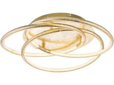 XXXLutz LED-DECKENLEUCHTE , Gold, Metall, Kunststoff, 14 cm