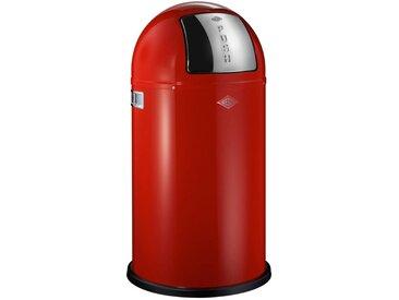 Wesco ABFALLSAMMLER PUSHBOY 50 L , Rot, Edelstahl, Metall, Kunststoff, 75.5 cm