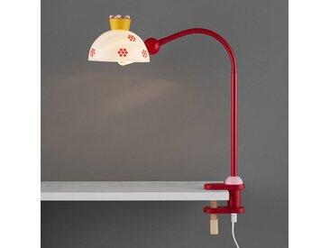 XXXLutz KINDERKLEMMLEUCHTE, Weiß, Rot, Holz, Kunststoff, 4.5x40x25 cm