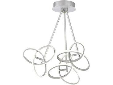 Wofi LED-DECKENLEUCHTE , Silber, Metall, 60x60x30 cm