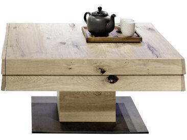 Voglauer COUCHTISCH Wildeiche furniert, massiv, mehrschichtige Massivholzplatte (Tischlerplatte) Braun , Holz, 90x43 cm