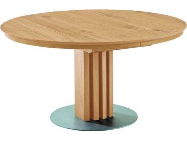 Venjakob ESSTISCH Wildeiche furniert rund Braun , Holz, Metall, 140x75x140 cm