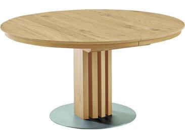 Venjakob ESSTISCH Wildeiche furniert rund Braun , Holz, Metall, 140x75 cm