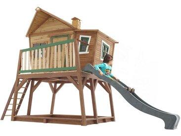 XXXLutz Spielhaus Max , Grün, Mehrfarbig, Holz, Zeder, vollmassiv, 435x291x180 cm