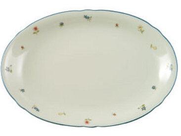 Seltmann Weiden SERVIERPLATTE, Beige, Keramik, Blume, 31x21 cm