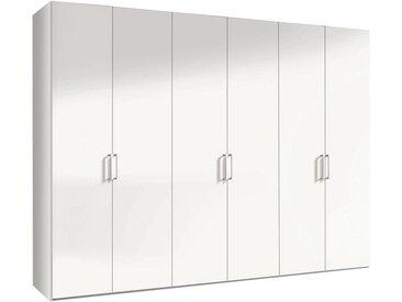 Hom`in: Drehtürenschrank, Holzwerkstoff, Weiß, B/H/T 300 216 58