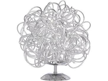 Wofi LED-TISCHLEUCHTE , Silber, Metall, 32 cm